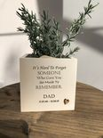 Personalised Flower / Plant Pot In Memory Loved One DAD Memorial MUM OR ANY NAME - 254324684745